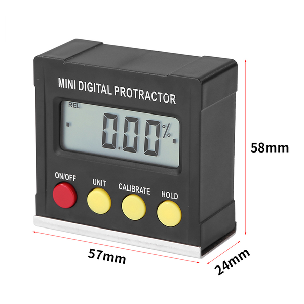 Protractor angle finder gauge for measure magnetic inclinometer