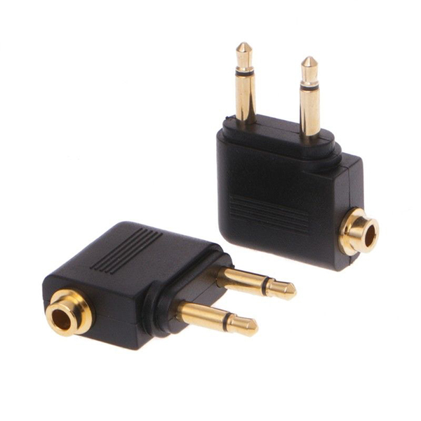 3.5mm jack audio adapter for airline airplane travel earphone he