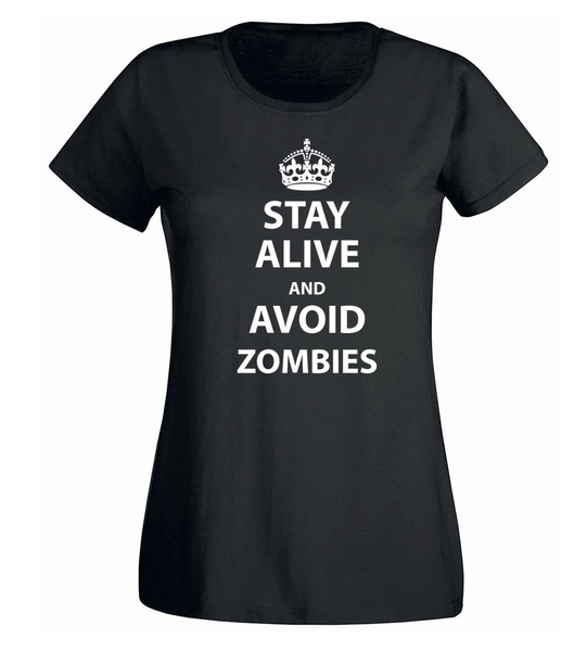 T-shirt - Stay Alive And Avoid Zombies - DAM