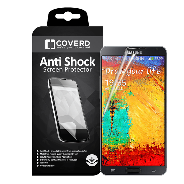 Coveredgear anti-shock skärmskydd till samsung galaxy note 3