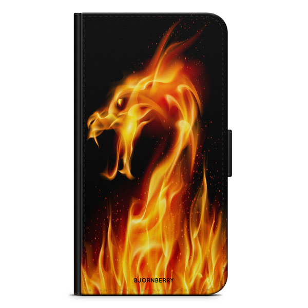Bjornberry plånboksfodral iphone 5/5s/se – flames dragon