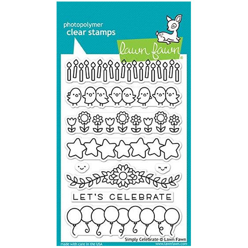 Clear stamps 4″x6″ – lawn fawn – simply celebrate