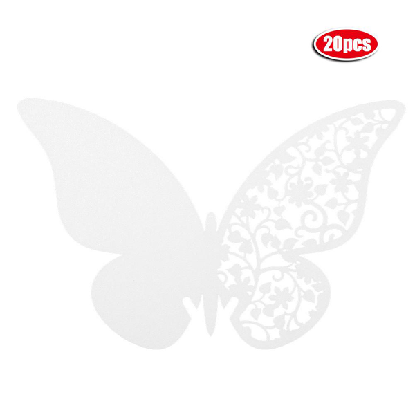 20pcs butterfly shape wedding hollow name place cards for wi