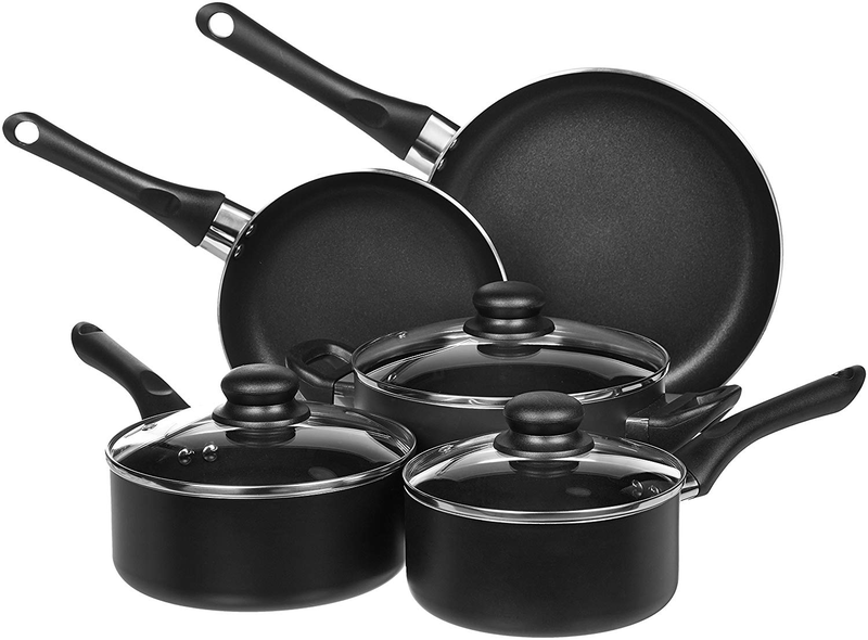 8 piece non stick cookware