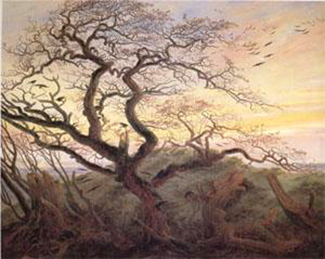 Tree with with with Crows Tumulus,Caspar David Friedrich,59x74cm 7bdac3