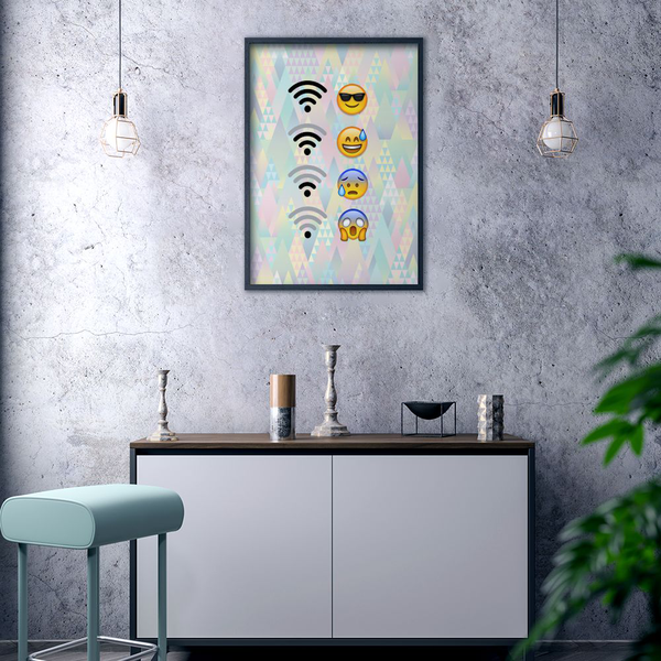 Poster Poster Poster A3 30x42cm Emoji WiFi cbcdcc