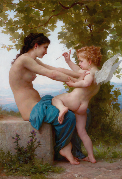 Young Girl Defending Herself,Adolphe William Bouguereau,60x40cm Bouguereau,60x40cm Bouguereau,60x40cm 45a0fd