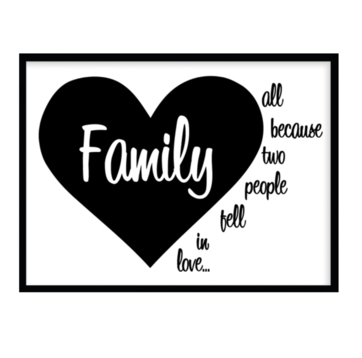 Poster Family all because two people... A4