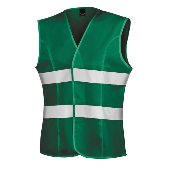 Result womens/ladies reflective safety tabard paramedic green ut