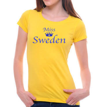 Dam t-shirt med miss sweden tryck design