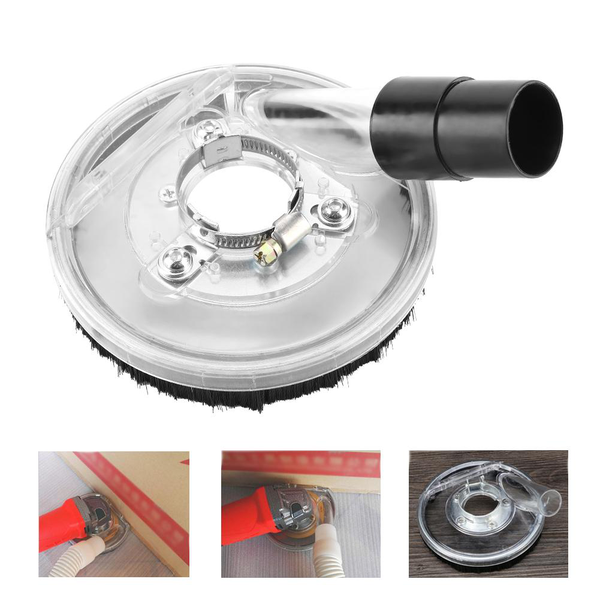 80-125mm clear vacuum dust shroud dry grinding cover for ang