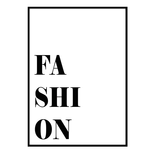 Poster Poster Poster - Fashion no.2 A4 21x30cm 39f8ab