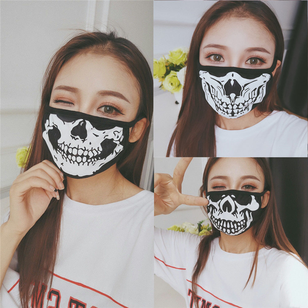 Cotton mouth mask respiratory health care fashion skull