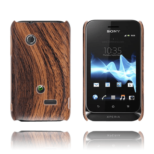 Woody (brun) sony xperia tipo skal