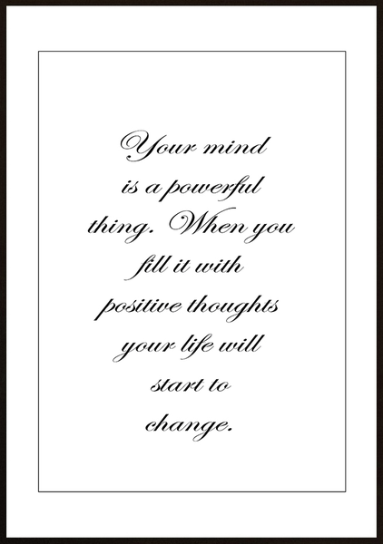 Poster - Your mind is powerful No.5 50x70cm