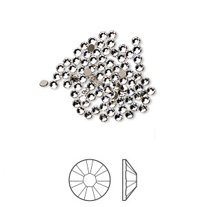 Swarovski flat back strass 1.7-1.9mm crystal clear 10-pack