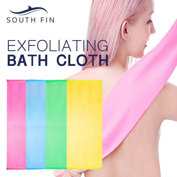 Bath exfoliation cloth bath shower scrubbing towel body