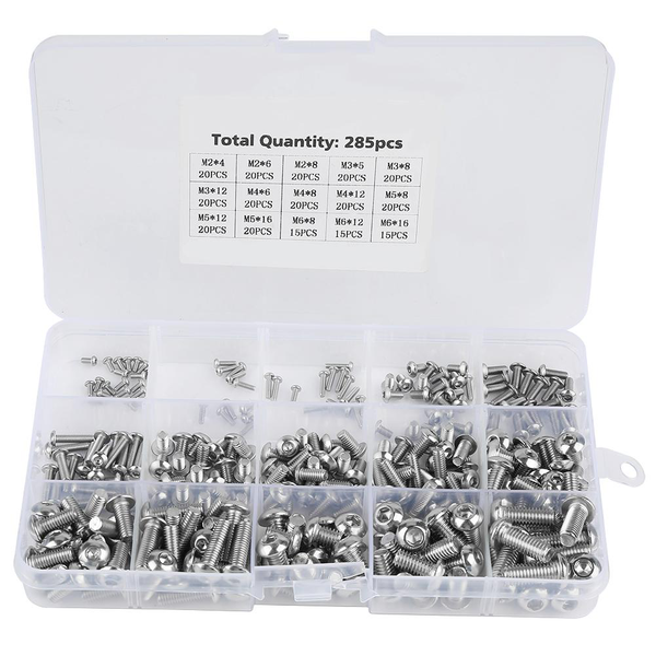 285pcs m2/m3/m4/m5/m6 machine screws set fasteners for lapto