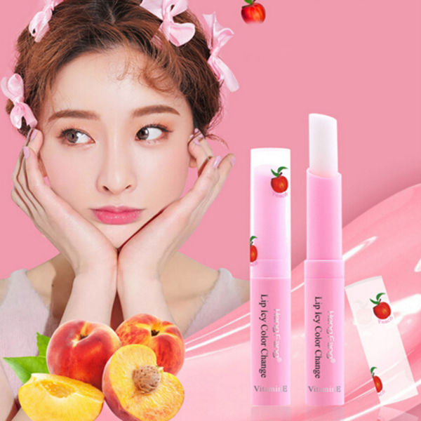Strawberry change color moisturizing lip balm lips care cosmetic