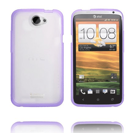 Transparent back (lila kant) htc one x skal