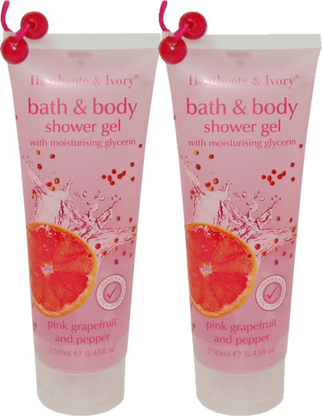 Heathcote pink grapefruit duo shower gel