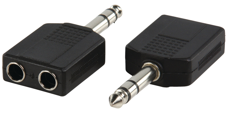 Stereo audio adapter 6,35 mm hane – 2x 6.35 mm hona