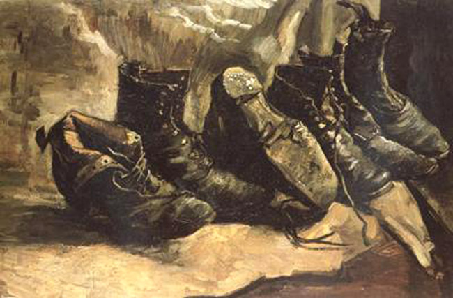 Three Pairs of Shoes,Vincent Van Gogh,49x72cm