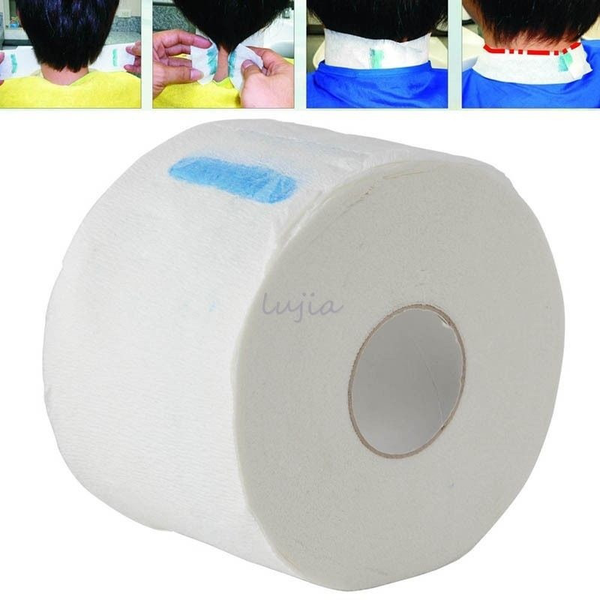 100pcs/roll pro stretchy disposable neck paper strips barber