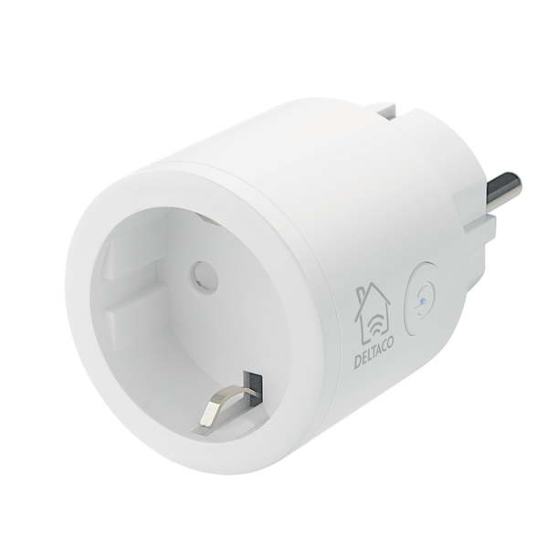 Deltaco smart home strömbrytare wifi 1xcee 7/3 10a timer