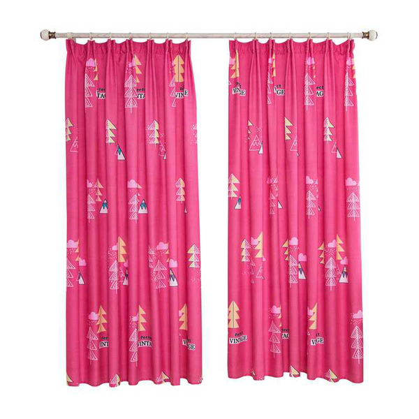 Printed stripe curtains blackout curtains window curtain panels