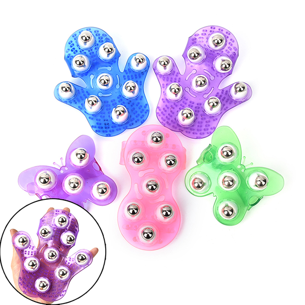 Roller ball body massage glove anti-cellulite muscle pain relief