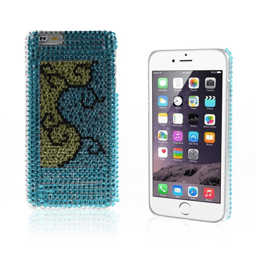 Diamond bling (blå) iphone 6 plus skal