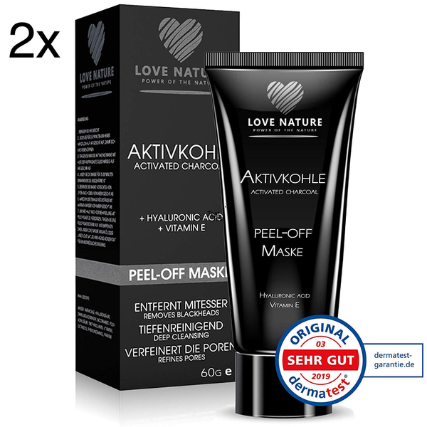 2x charcoal activated black face mask blackhead remover peel