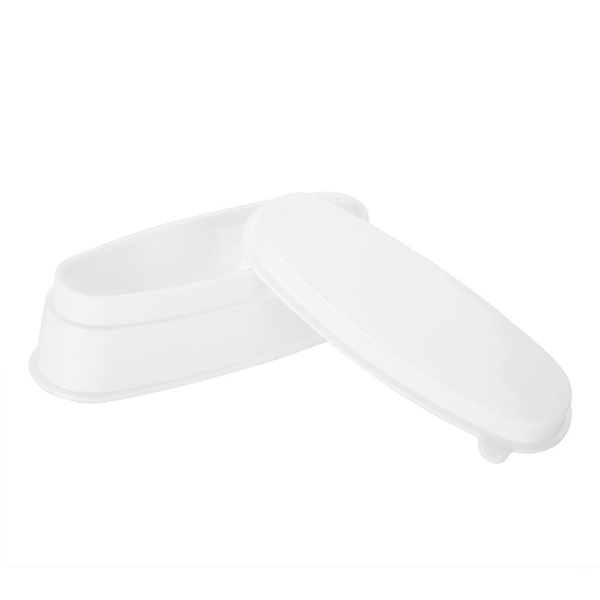 Portable white nail dipping powder tray manicure mould nail