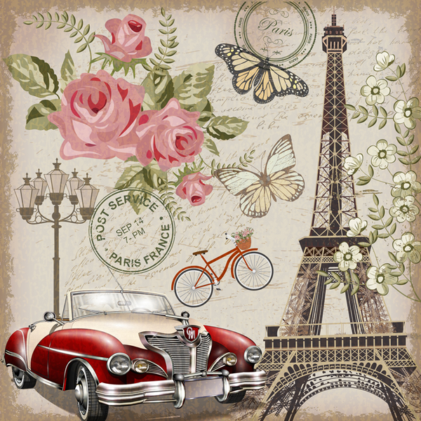 Poster Illustration Paris, 50x50 50x50 50x50 cm fbefad