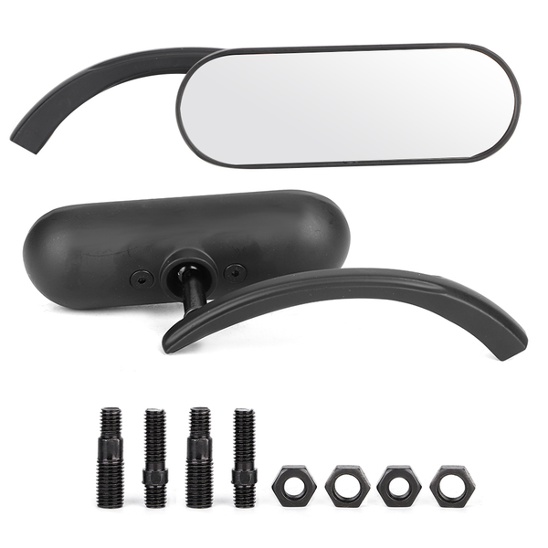 2pcs motorcycle black mini oval rear view mirror for hond