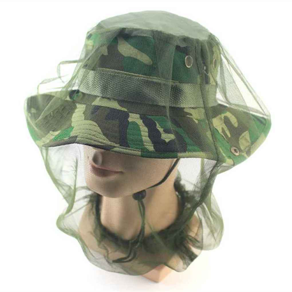 Midge mosquito insect hat face head protector mesh