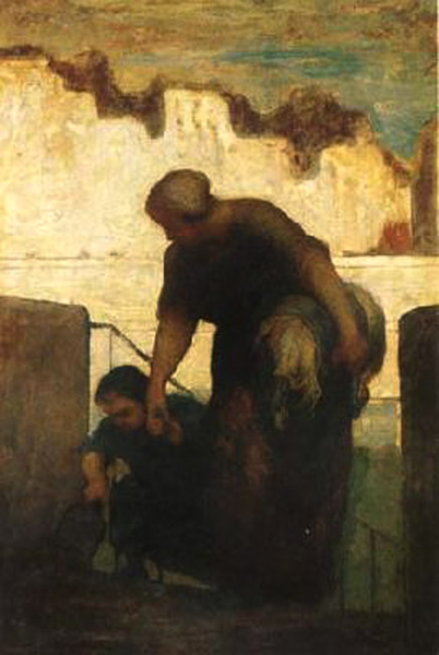 The Washerwoman,Honore Daumier,49x34cm