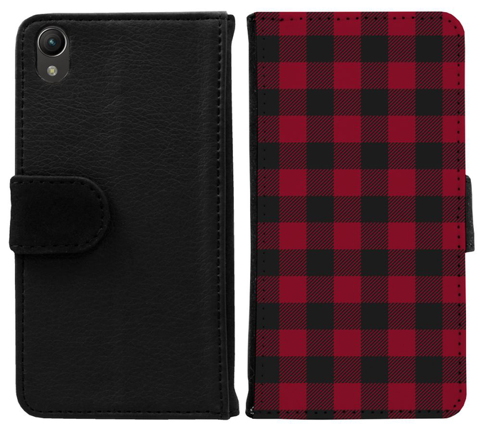 Sony xperia z1 plånboksfodral checkered flannel