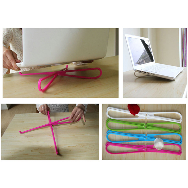 1pc portable plastic simple laptop cooling stand pad rack base s