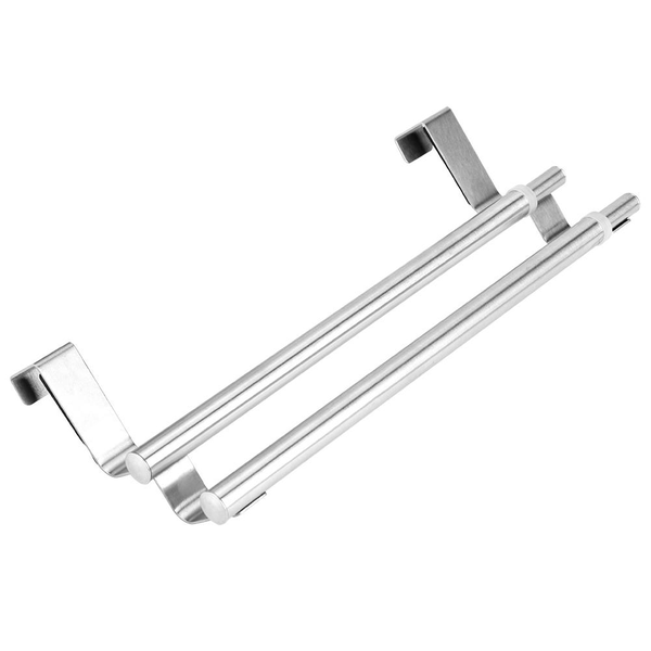 Double layers stainless steel telescopic towel holder rack h
