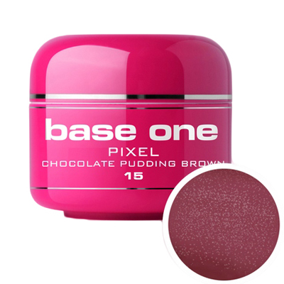 Base one – uv gel – pixel – chocolate pudding brown – 15 – 5g