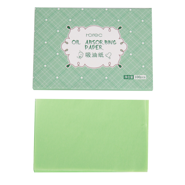 100pcs oil absorbing blotting paper sheet refreshing oil con