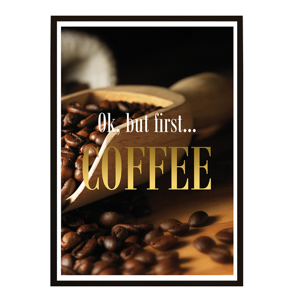 Poster - But first coffee No.20 21x30cm