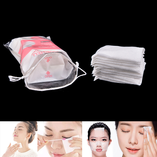 50pcs cotton pad nail facial makeup cleansing pads cosmetic puff