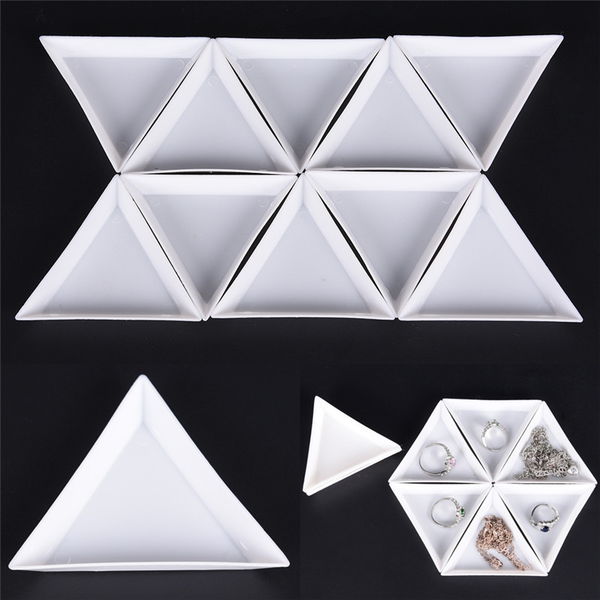 10pcs equilateral triangle plate for jewelry beads storage envir