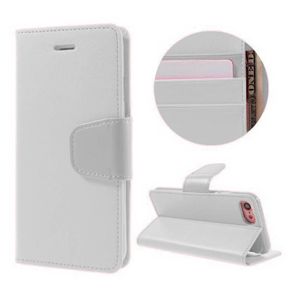 Htc one m7 case with card holder (white)