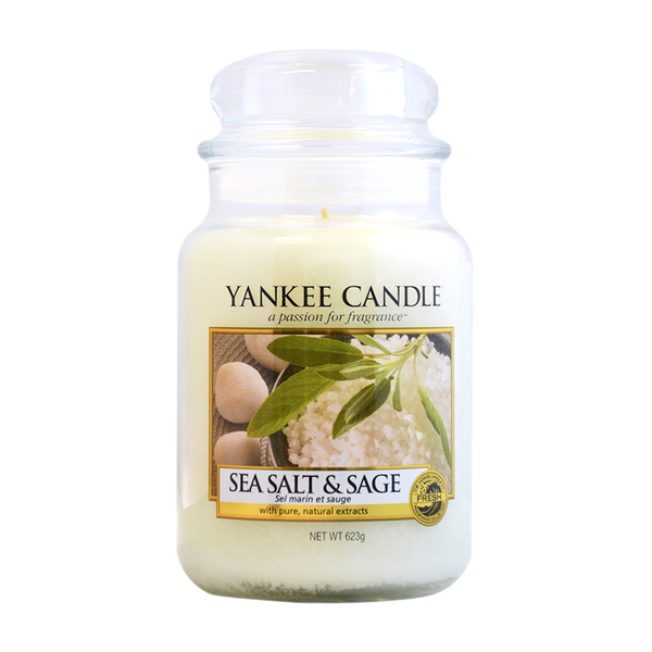 Yankee Candle Classic Large Jar Sea Salt & Sage Candle 623g