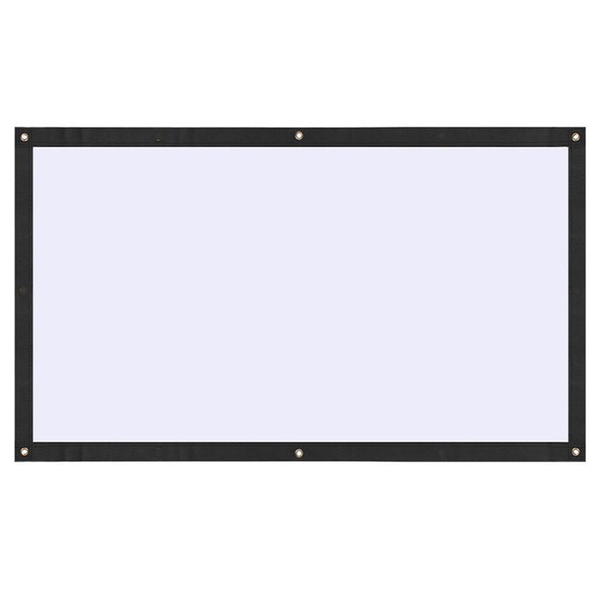 Projection curtain moviescreen soft 16:9 120 inch home foldable