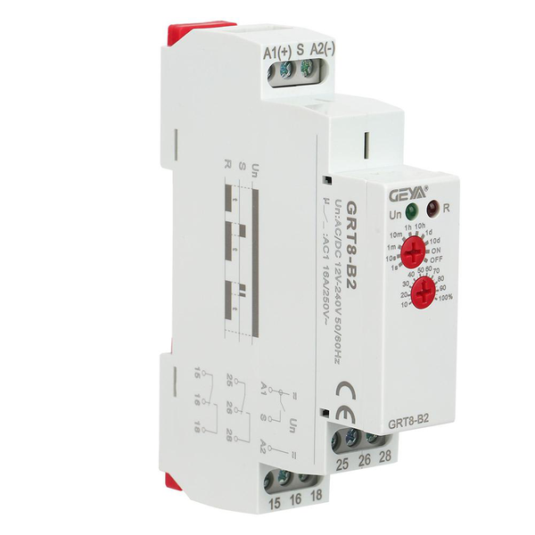 Grt8-b2 mini single function control din rail time relay ac/